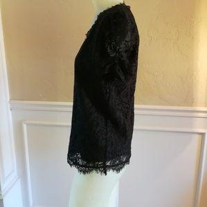 Joie black lace blouse